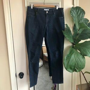 LOFT Crop Skinny Dark Wash Jeans